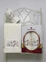 Комплект полотенец ТомДом Галеви (кремовый) набор махровых полотенец karna esra цвет кремовый 50 х 90 см 70 х 140 см 2 шт