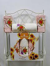 Комплект полотенец ТомДом Гермея (пудра) комплект полотенец томдом гермея пудра