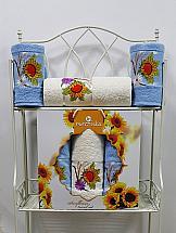 Комплект полотенец ТомДом Гермея (голубой) полотенца karna комплект полотенец детский karna bambino train 50 70 70 120 голубой