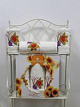 Комплект полотенец ТомДом Гермея (кремовый) комплект полотенец томдом гермея пудра