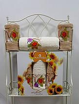 Комплект полотенец ТомДом Гермея (бежевый) комплект полотенец томдом гермея пудра