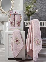 Комплект полотенец ТомДом Миперо (пудра) комплект полотенец томдом гермея пудра