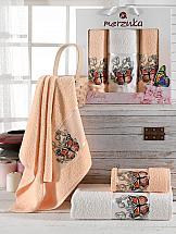Комплект полотенец ТомДом Лавсо (оранжевый)
