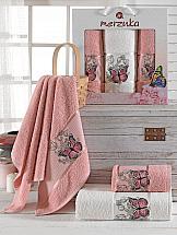 Комплект полотенец ТомДом Лавсо (брусничный)