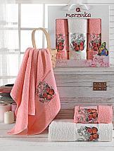 Комплект полотенец ТомДом Лавсо (персиковый)