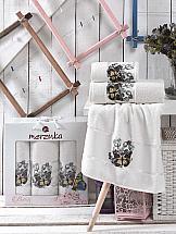 Комплект полотенец ТомДом Лавсо (кремовый)