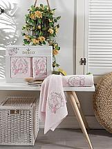 цена Комплект полотенец ТомДом Даливия (розовый) онлайн в 2017 году