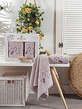 цена Комплект полотенец ТомДом Даливия (лиловый) онлайн в 2017 году