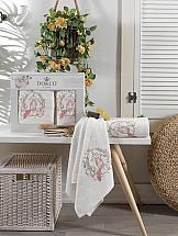 цена Комплект полотенец ТомДом Даливия (кремовый) онлайн в 2017 году