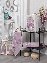 цена Комплект полотенец ТомДом Хармиф (светло-розовый) онлайн в 2017 году