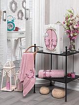 цена Комплект полотенец ТомДом Хармиф (розовый) онлайн в 2017 году