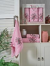 Комплект полотенец ТомДом Канвес (розовый) цена