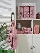 Комплект полотенец ТомДом Канвес (пудра) комплект полотенец томдом гермея пудра