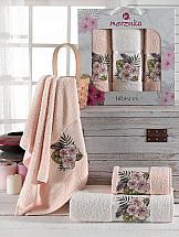 Комплект полотенец ТомДом Атисия (пудра) комплект полотенец томдом гермея пудра