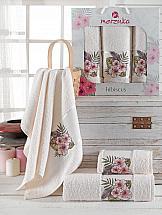 Комплект полотенец ТомДом Атисия (кремовый) комплект емкостей для продуктов giaretti браво цвет кремовый 900 мл 3 шт