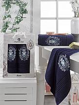 Комплект полотенец ТомДом Спенто (синий) комплект полотенец томдом смиволия синий