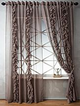 Комплект штор ТомДом Венсит (коричневый) комплект штор томдом пьерио коричневый