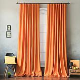 Комплект штор ТомДом Эвеси (оранжевый) комплект штор тд текстиль шик на ленте цвет оранжевый высота 180 см 92528