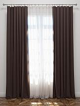 купить Комплект штор ТомДом Эмитея (темно-коричневый) по цене 6580 рублей