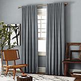 Комплект штор ТомДом Ибица (серый) комплект штор для кухни kauffort натура на ленте 2 портьеры 136 x 175 см 2 подхвата