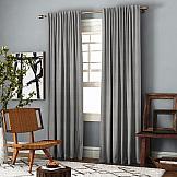 Комплект штор ТомДом Ибица (бежево-серый) комплект штор для кухни kauffort натура на ленте 2 портьеры 136 x 175 см 2 подхвата
