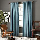Комплект штор ТомДом Ибица (голубой) комплект штор для кухни kauffort натура на ленте 2 портьеры 136 x 175 см 2 подхвата