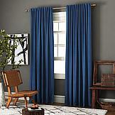 Комплект штор ТомДом Ибица (синий) комплект штор для кухни kauffort натура на ленте 2 портьеры 136 x 175 см 2 подхвата