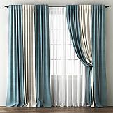 Комплект штор ТомДом Кирстен (голубой-кремовый) комплект штор zlata korunka ажур голубой на ленте 2 шторы 147 х 267 см тюль 294 х 267 см