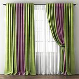 Комплект штор ТомДом Кирстен (Зеленый/Фиолетовый) комплект штор тд текстиль алькор на ленте цвет зеленый высота 270 см 98766