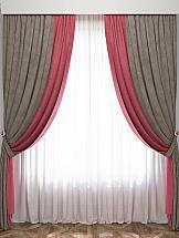 цена на Комплект штор ТомДом Латур (Розовый/Серый)