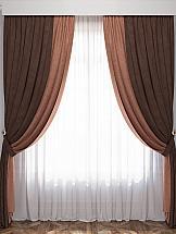 купить Комплект штор ТомДом Латур (Коричневый/Венге) по цене 8840 рублей