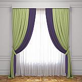 Комплект штор ТомДом Латур (Зеленый/Баклажановый) комплект штор тд текстиль алькор на ленте цвет зеленый высота 270 см 98766