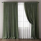 Комплект штор ТомДом Фиелит (зеленый)