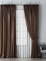 Комплект штор ТомДом Шанти (коричневый) цены онлайн