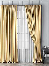 Комплект штор ТомДом Шанти (золотой) тюль тд текстиль энтони на ленте цвет золотой 500 х 270 см