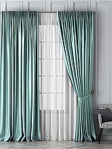 Комплект штор ТомДом Шанти (светло-бирюзовый) цена