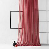 Тюль ТомДом Грик (бордовый) тюль сетка вышивка райские птицы 140х270 см 2шт белый бордовый лента белый бордовый