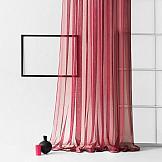 Тюль ТомДом Стори (бордовый) тюль сетка вышивка райские птицы 140х270 см 2шт белый бордовый лента белый бордовый