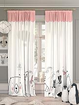 Комплект штор ТомДом Киоти (розовый) фотошторы сирень чайные поля фшст001 13543 розовый 260 х 150 см 2 шт