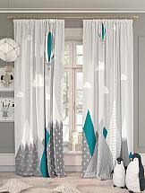 Комплект штор ТомДом Гилорис (морская волна) шторы для комнаты blackout комплект штор блэкаут софт b531 2 морская волна 200 270 см
