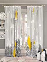 Комплект штор ТомДом Гилорис (желтый) комплект штор томдом перри желтый