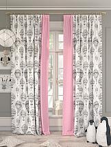 Комплект штор ТомДом Рионика (розовый) фотошторы сирень чайные поля фшст001 13543 розовый 260 х 150 см 2 шт
