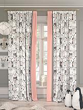 Комплект штор ТомДом Локита (розовый) фотошторы сирень чайные поля фшст001 13543 розовый 260 х 150 см 2 шт