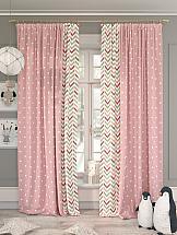Комплект штор ТомДом Рониор (розовый) цены