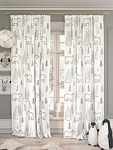 Комплект штор ТомДом Умкали (белый) комплект штор томдом легия к белый