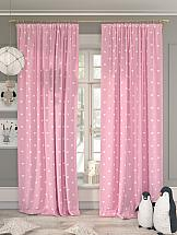 Комплект штор ТомДом Хартис (розовый) фотошторы сирень чайные поля фшст001 13543 розовый 260 х 150 см 2 шт