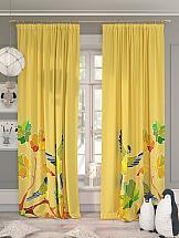 Комплект штор ТомДом Париот (желтый) комплект штор томдом перри желтый
