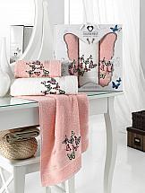 Комплект полотенец ТомДом Вербета (пудра) комплект полотенец томдом гермея пудра