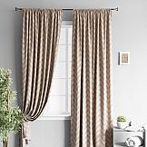 Комплект штор ТомДом Геот (светло-коричневый) комплект штор томдом элонар коричневый