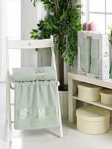 Комплект полотенец ТомДом Гансит (зеленый) цена и фото